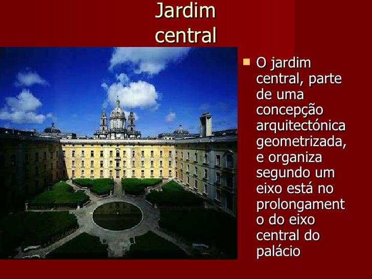 Jardim central              O jardim               central, parte               de uma               concepção           ...