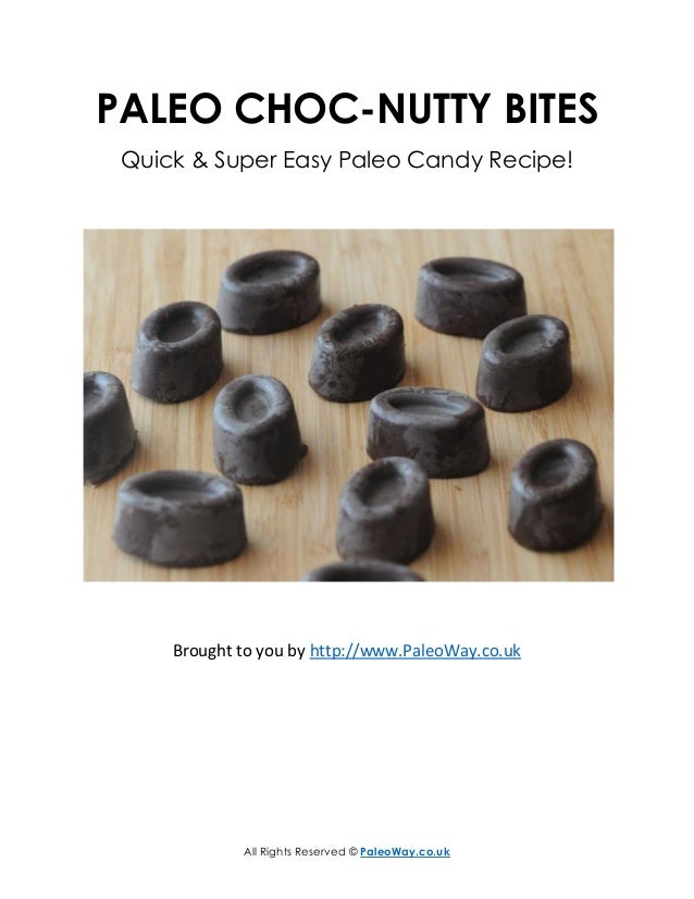 All Rights Reserved © PaleoWay.co.uk PALEO CHOC-NUTTY BITES Quick & Super Easy Paleo Candy Recipe! Brought to you by http:...