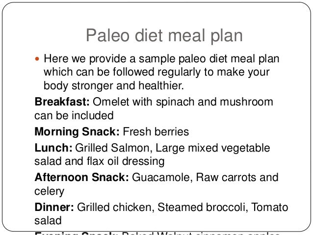 4 Paleo Diet Meal Plan