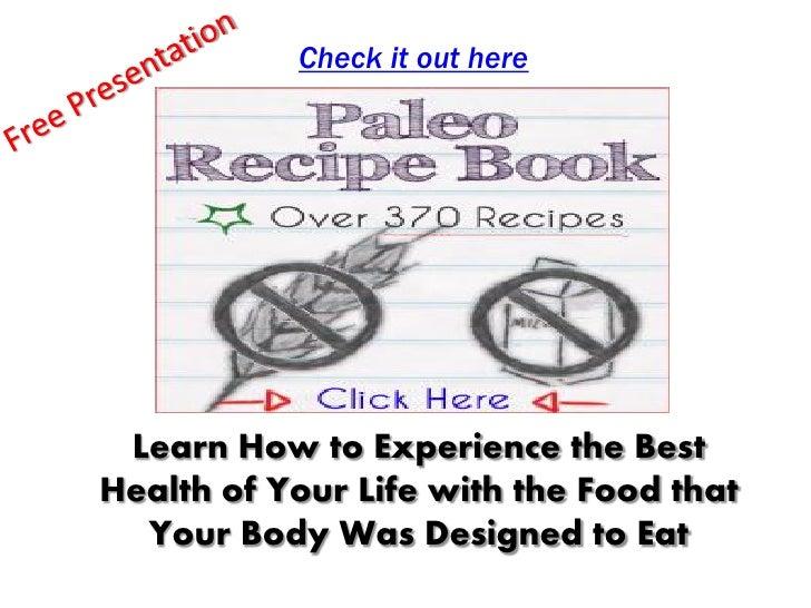 Paleo diet sample menu
