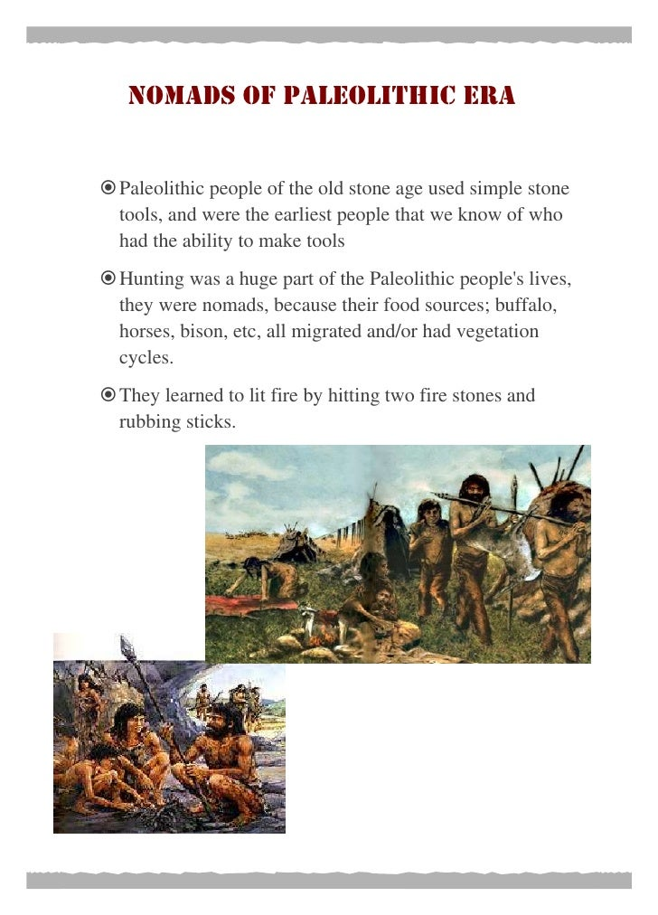 Paleolithic to neolithic change over time