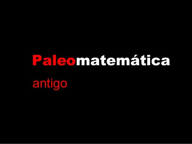 Paleomatemáticaantigo