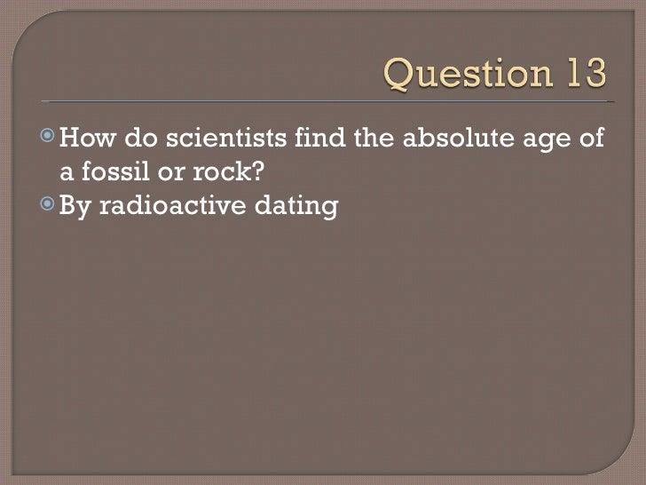 paleontology dating fossils