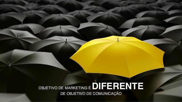 OBJETIVO DE MARKETING É DIFERENTE DE OBJETIVO DE COMUNICAÇÃO