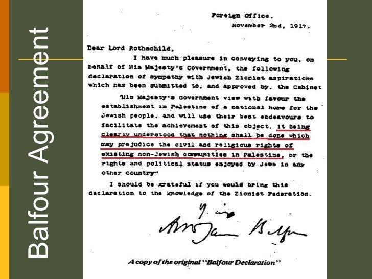 Balfour Agreement