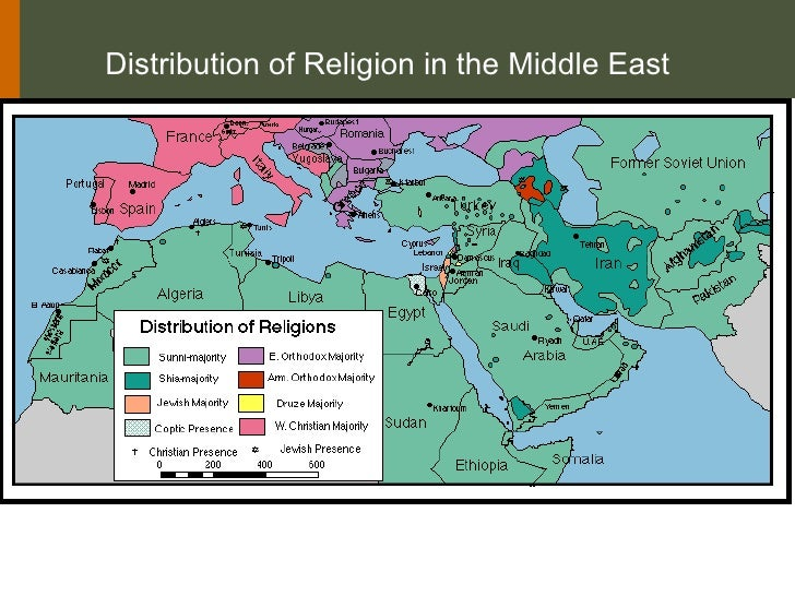 Distribution of Religion in the Middle East