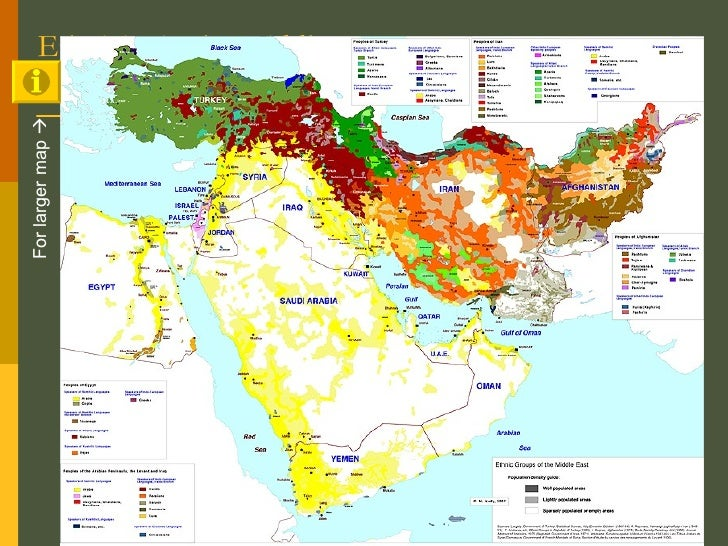 Ethnicity in the Middle East For larger map  