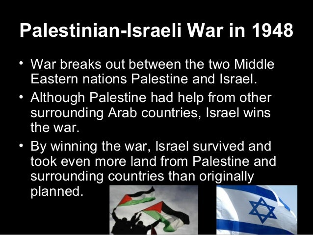 Conflicts between palestine and israel