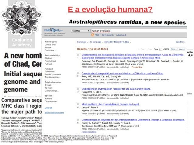 Entendendo a evolução biológica, o maior espetáculo