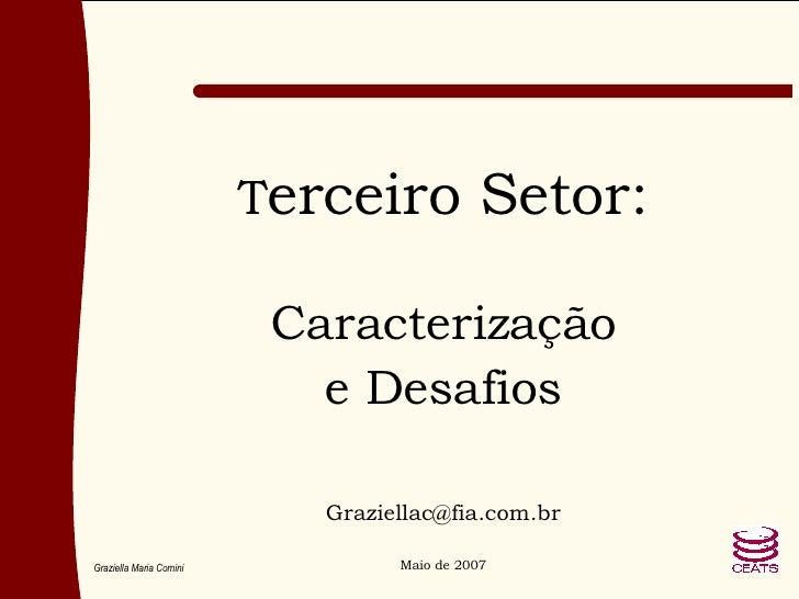 T erceiro Setor: Caracterização e Desafios [email_address] Maio de 2007