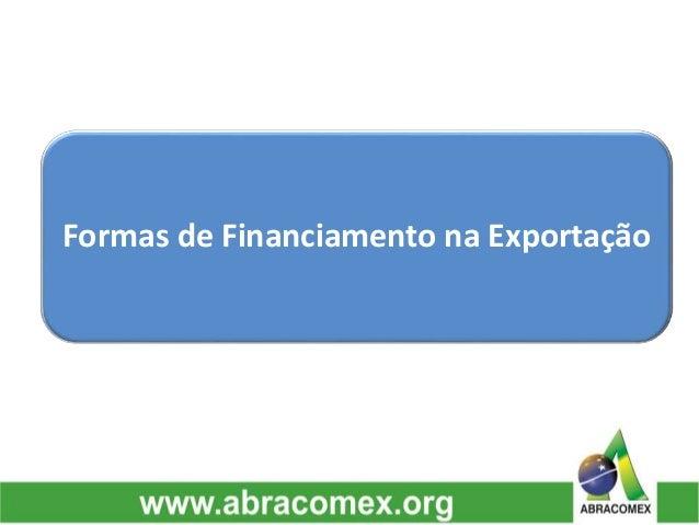 Formas de Financiamento na Exportação