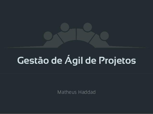 Gestão de Ágil de Projetos Matheus Haddad
