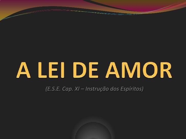 (E.S.E. Cap. XI – Instrução dos Espíritos)