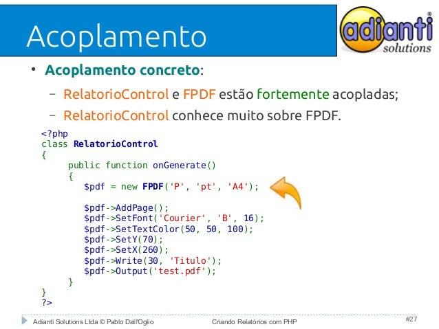 RELATORIO PHP FPDF PDF