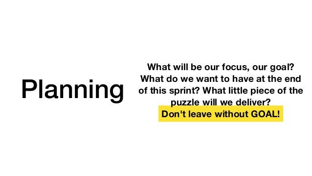 Review We are on the right way? We deliver what we commit? Defines Sprint's success or failure.