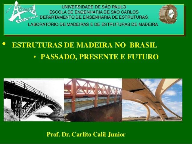 UNIVERSIDADE DE SÃO PAULO ESCOLA DE ENGENHARIA DE SÃO CARLOS DEPARTAMENTO DE ENGENHARIA DE ESTRUTURAS LABORATÓRIO DE MADEI...