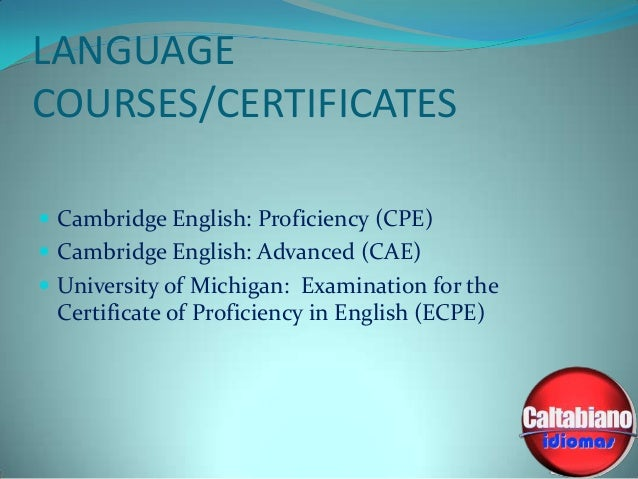 Michigan Test ECPE The Examination for the Certificate ...