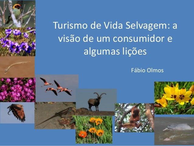 Turismo de Vida Selvagem: a visão de um consumidor e algumas lições Fábio Olmos