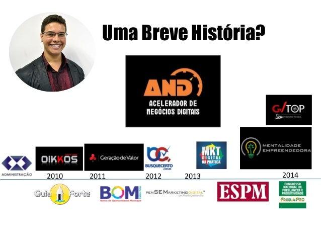 Uma Breve História?  2011  2010  2012  2013  2014