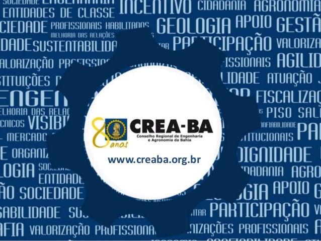 CREA-BA www.creaba.org.br