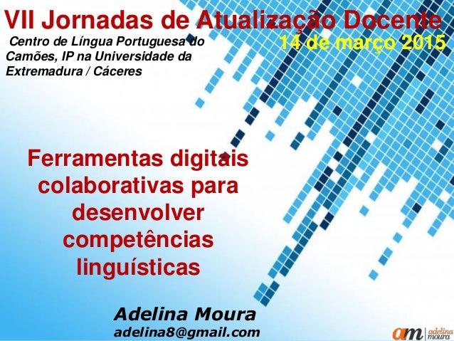 Powerpoint Templates Page 1 Powerpoint Templates Ferramentas digitais colaborativas para desenvolver competências linguíst...