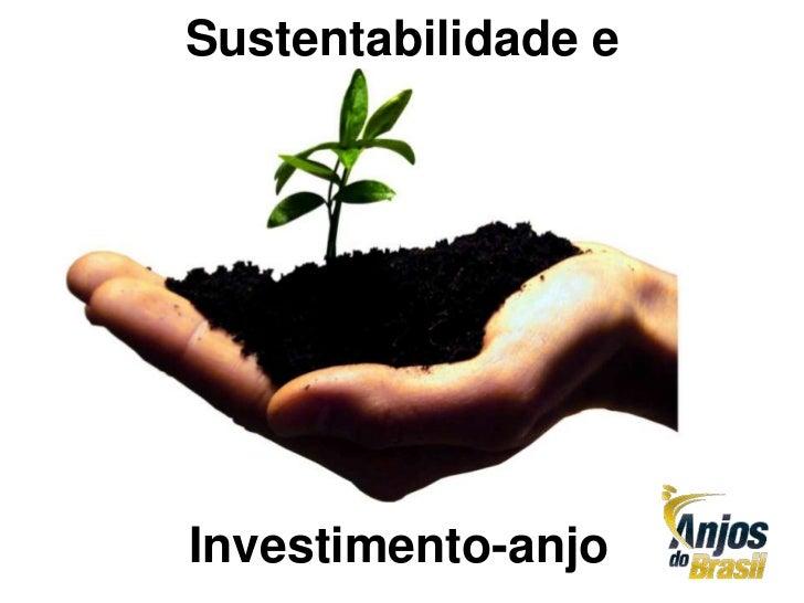 Sustentabilidade eInvestimento-anjo