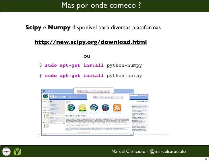 Computação Científica com Python, Numpy e Scipy