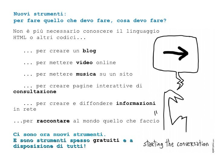 Non è più necessario conoscere il linguaggio HTML o altri codici... ... per creare un  blog   ... per mettere  video  onli...