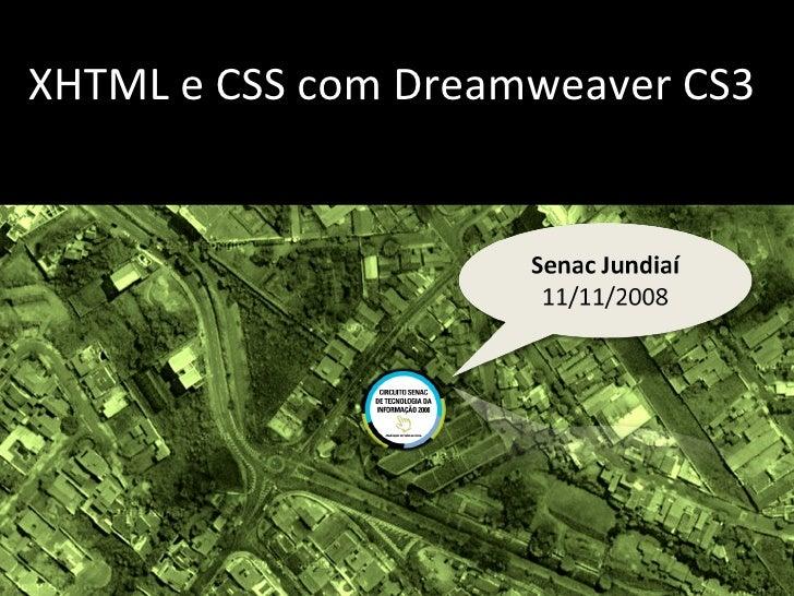 XHTML e  CSS com Dreamweaver CS3