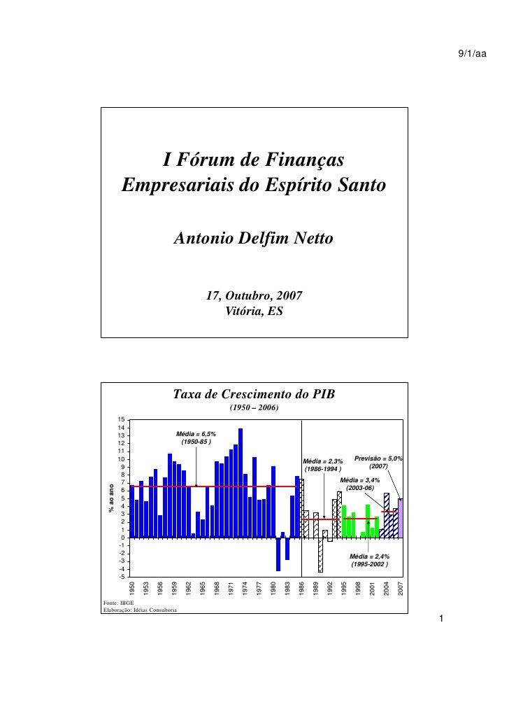 9/1/aa                      I Fórum de Finanças               Empresariais do Espírito Santo                              ...