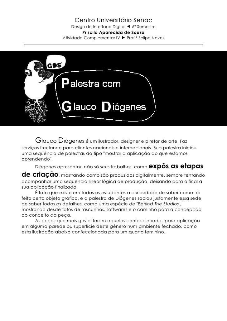 Centro Universitário Senac                      Design de Interface Digital     6º Semestre                            Pri...