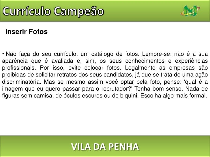 Palestra Do Curriculum