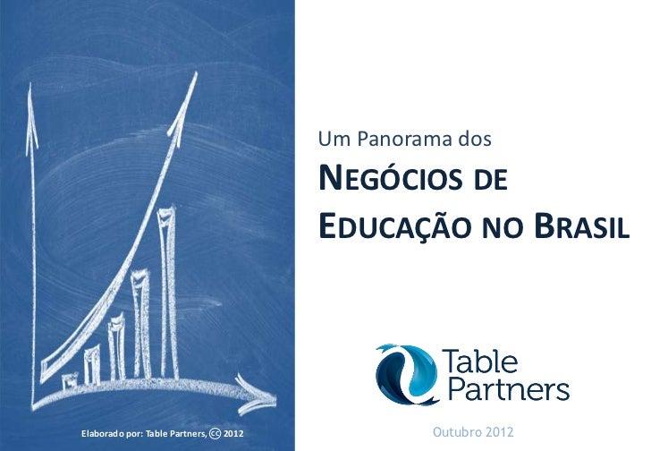 Um Panorama dos                                             NEGÓCIOS DE                                             EDUCAÇ...