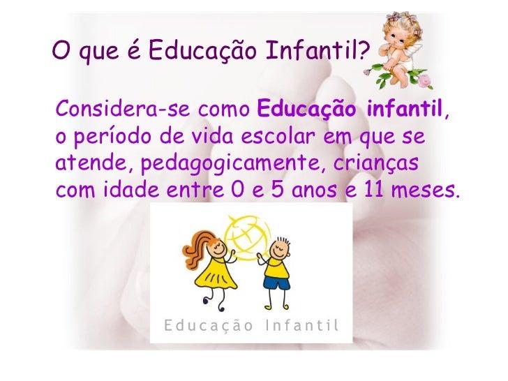 Um pouquinho sobre Educação Infantil Slide 2