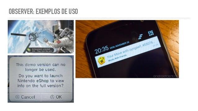 OBSERVER: EXEMPLOS DE USO