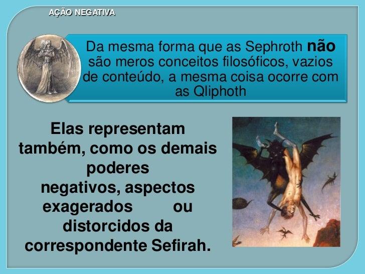 AÇÃO NEGATIVAAs legiões das Qliphoth d'além do Abismo são conhecidas coletivamente como as        Sataroth, ou Encobridore...