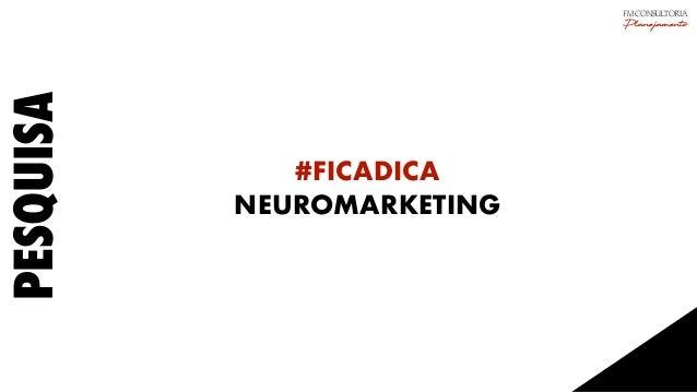 PESQUISA #FICADICA NEUROMARKETING FM CONSULTORIA Planejamento