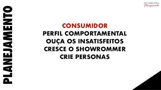 PLANEJAMENTO CONSUMIDOR PERFIL COMPORTAMENTAL OUÇA OS INSATISFEITOS CRESCE O SHOWROMMER CRIE PERSONAS FM CONSULTORIA Plane...