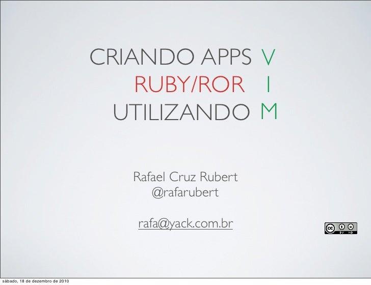 Criando Apps Ruby/RoR utilizando VIM