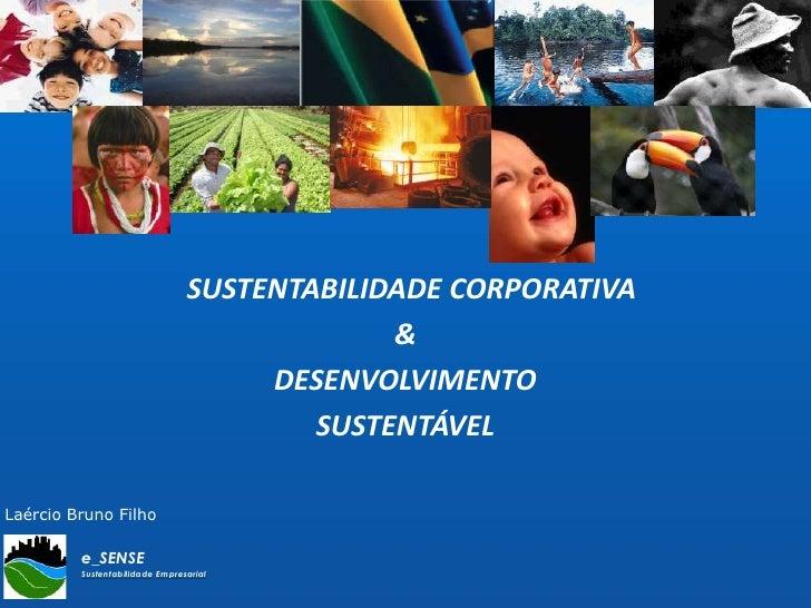 SUSTENTABILIDADE CORPORATIVA<br />& <br />DESENVOLVIMENTO<br />SUSTENTÁVEL<br />Laércio Bruno Filho<br />
