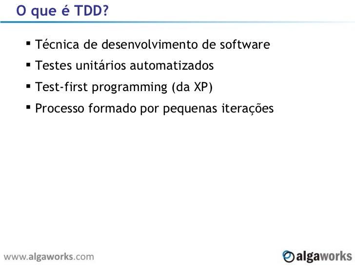 Introdução ao TDD Slide 3