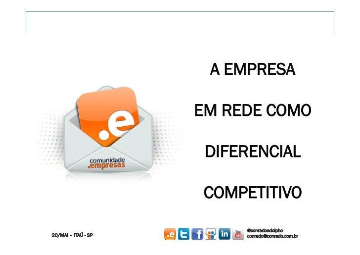 A EMPRESA                     EM REDE COMO                      DIFERENCIAL                     COMPETITIVO               ...