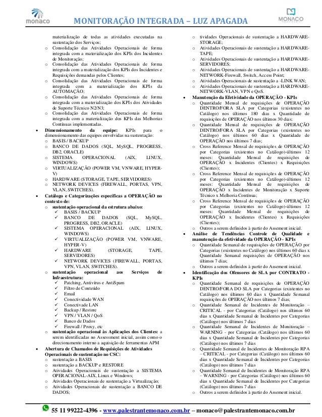 MONITORAÇÃO INTEGRADA - CADÊNCIAS OPERACIONAIS Slide 2