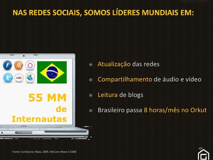 Atualização das redes<br />Compartilhamento de áudio e vídeo<br />Leitura de blogs<br />Brasileiro passa 8 horas/mês no Or...