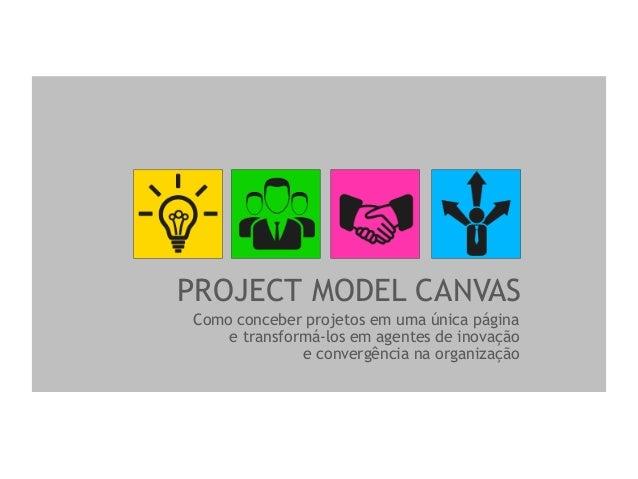 PROJECT MODEL CANVAS Como conceber projetos em uma única página e transformá-los em agentes de inovação e convergência na ...