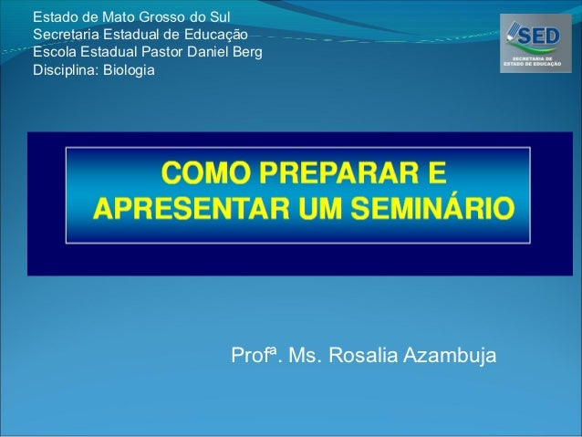 Como fazer um bom slide para seminario