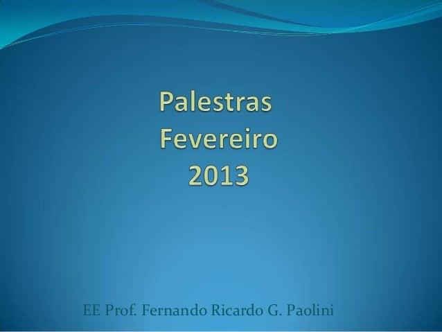 EE Prof. Fernando Ricardo G. Paolini