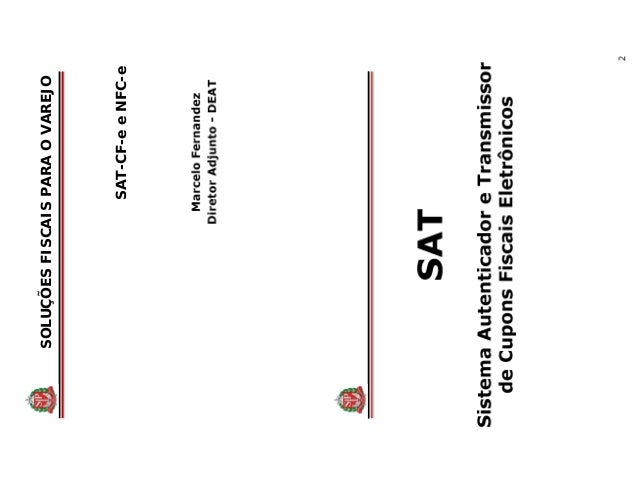 SOLUÇÕESFISCAISPARAOVAREJO SAT-CF-eeNFC-e