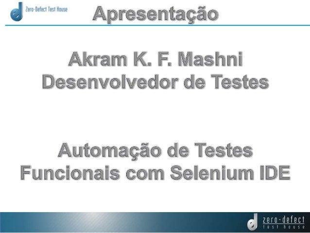 Automação de Testes Selenium IDE