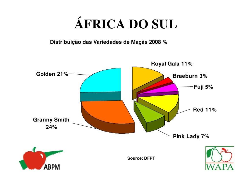 ÁFRICA DO SUL                       Idade dos Pomares 2008                  0-3 Anos 9%  4-10 Anos 15%                    ...